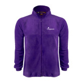 Fleece Full Zip Purple Jacket-