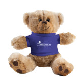 Plush Big Paw 8 1/2 inch Brown Bear w/Royal Shirt-w/Tag Line