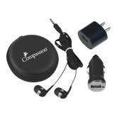 3 in 1 Black Audio Travel Kit-