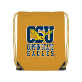 Gold Drawstring Backpack-CSU Coppin State Eagles