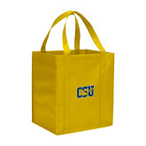 Non Woven Gold Grocery Tote-Official Logo