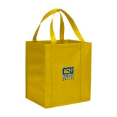 Non Woven Gold Grocery Tote-CSU Coppin State Eagles