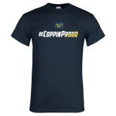 Navy T Shirt-#CoppinProud