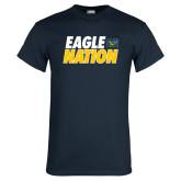 Navy T Shirt-Eagle Nation
