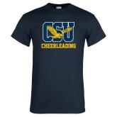 Navy T Shirt-Cheerleading