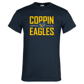 Navy T Shirt-Coppin Eagles Stacked