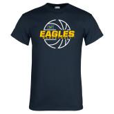 Navy T Shirt-Eagles Basketball Split Lined Ball