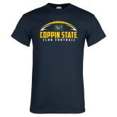Navy T Shirt-Coppin State Club Football w/ Football