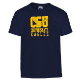 Youth Navy T Shirt-CSU Coppin State Eagles