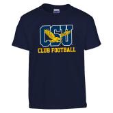 Youth Navy T Shirt-Club Football