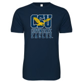 Next Level SoftStyle Navy T Shirt-CSU Coppin State Eagles