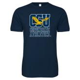 Next Level SoftStyle Navy T Shirt-CSU Coppin State Athletics