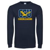 Navy Long Sleeve T Shirt-Cheerleading