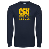 Navy Long Sleeve T Shirt-CSU Coppin State Eagles