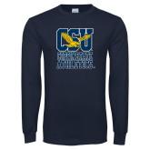 Navy Long Sleeve T Shirt-CSU Coppin State Athletics