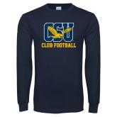 Navy Long Sleeve T Shirt-Club Football