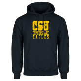 Navy Fleece Hoodie-CSU Coppin State Eagles