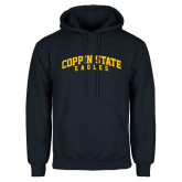 Navy Fleece Hoodie-Arched Coppin State Eagles