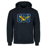 Navy Fleece Hoodie-Official Logo Distressed