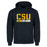 Navy Fleece Hoodie-CSU Basketball Stencil
