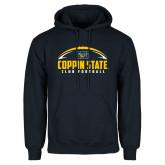 Navy Fleece Hoodie-Coppin State Club Football w/ Football