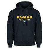 Navy Fleece Hoodie-Eagles Club Football Stacked