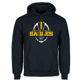 Navy Fleece Hoodie-Coppin State Eagles Football Vertical