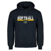 Navy Fleece Hoodie-Coppin State University Softball Stencil