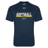 Under Armour Navy Tech Tee-Coppin State University Softball Stencil
