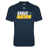 Under Armour Navy Tech Tee-Eagle Nation