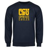 Navy Fleece Crew-CSU Coppin State Eagles