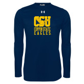 Under Armour Navy Long Sleeve Tech Tee-CSU Coppin State Eagles