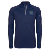 Under Armour Navy Tech 1/4 Zip Performance Shirt-CSU Coppin State Eagles