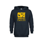 Youth Navy Fleece Hoodie-CSU Coppin State Eagles