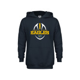 Youth Navy Fleece Hoodie-Coppin State Eagles Football Vertical