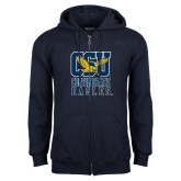Navy Fleece Full Zip Hoodie-CSU Coppin State Eagles