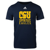 Adidas Navy Logo T Shirt-CSU Coppin State Eagles