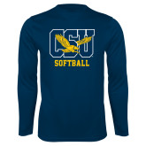 Performance Navy Longsleeve Shirt-Softball