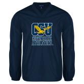V Neck Navy Raglan Windshirt-CSU Coppin State Athletics