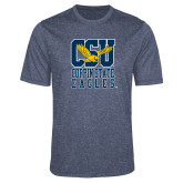 Performance Navy Heather Contender Tee-CSU Coppin State Eagles