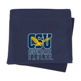 Navy Sweatshirt Blanket-CSU Coppin State Eagles
