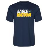 Performance Navy Tee-Eagle Nation