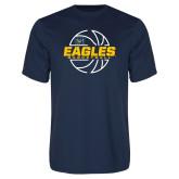 Performance Navy Tee-Eagles Basketball Split Lined Ball