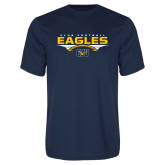 Performance Navy Tee-Eagles Club Football Stacked
