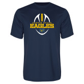 Performance Navy Tee-Coppin State Eagles Football Vertical