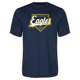 Performance Navy Tee-Eagles Baseball Plate w/ Script