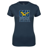 Ladies Syntrel Performance Navy Tee-CSU Coppin State Eagles