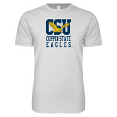 Next Level SoftStyle White T Shirt-CSU Coppin State Eagles