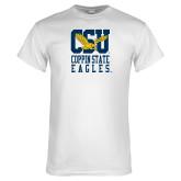 White T Shirt-CSU Coppin State Eagles