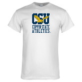 White T Shirt-CSU Coppin State Athletics